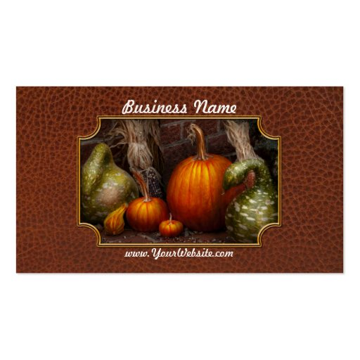 Autumn - Gourd - Family get together Business Card Templates