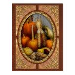 Autumn - Gourd - Pumpkins and Maize Post Card