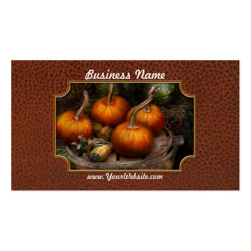 Autumn - Gourd - Pumpkins and some other things Business Cards