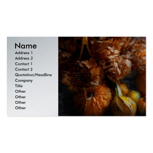 Autumn - Gourd - Still life with Gourds Business Card