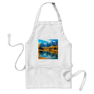 Autumn Grandeur Grand Teton Wyoming Aprons
