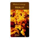autumn grapes wine bottle label