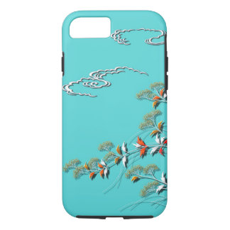 Autumn grasses and clouds iPhone 7 case