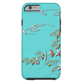 Autumn grasses and clouds tough iPhone 6 case