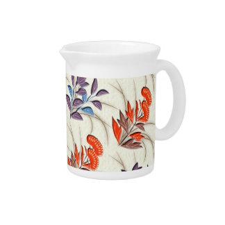Autumn grasses japanese pattern pitcher