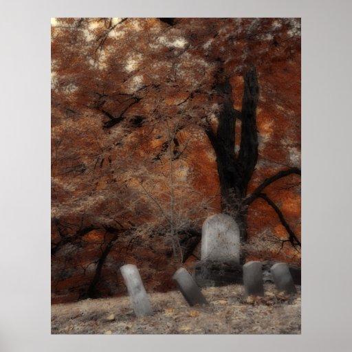 Autumn Graveyard Posters