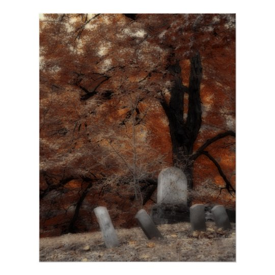Autumn Graveyard Poster
