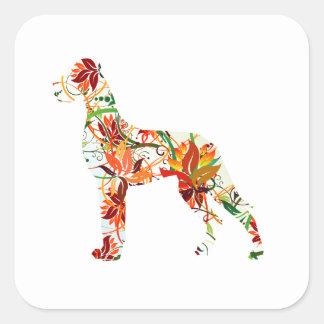 Autumn Great Dane Square Sticker