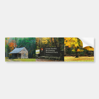 Autumn Great Smoky Mountain Bumper Sticker Collage