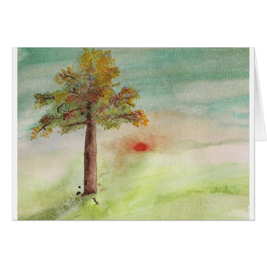Autumn Greeting Cart / Thanksgiving Card