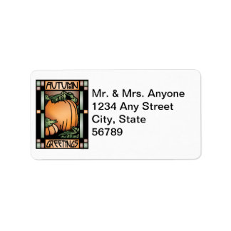 Autumn Greetings Label Address Label