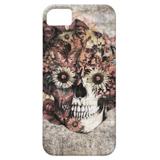 Autumn Grunge Ohm Skull Barely There iPhone 5 Case