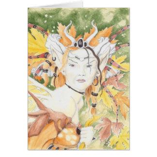 autumn haiku card