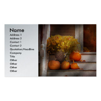 Autumn - Halloween - We're all happy to see you Business Card Templates