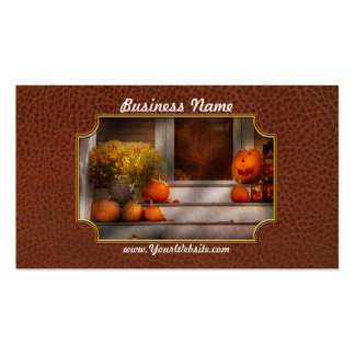 Autumn - Halloween - We're all happy to see you Business Card Template