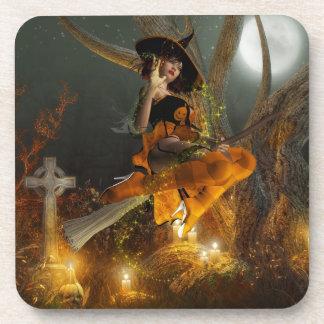 Autumn Hallowe's eve Cork Coaster