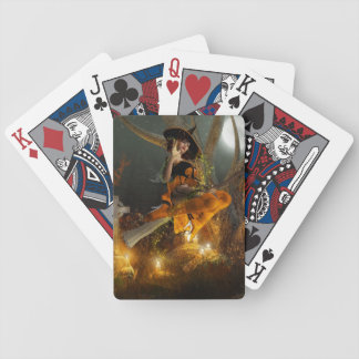Autumn Hallowe's eve playing cards