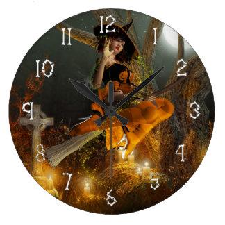 Autumn Hallowe's eve Wall Clock