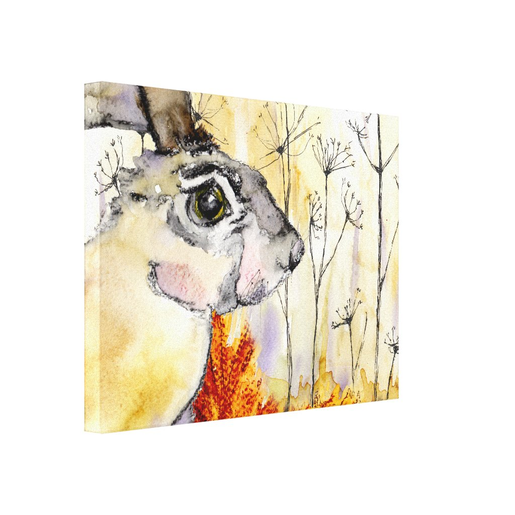 Autumn Hare (a415) Canvas Print title=