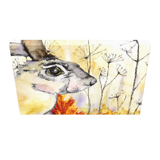 Autumn Hare (a415) Canvas Print