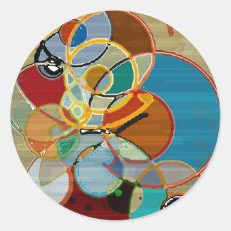 Autumn Harvest - Abstract Round Sticker