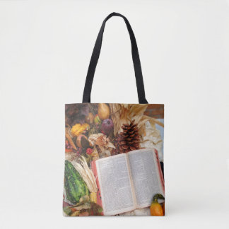 Autumn Harvest and Bible Tote Bag