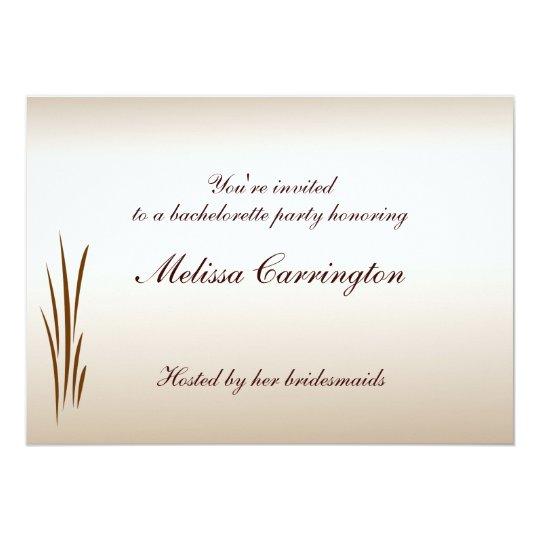Autumn Harvest Bachelorette Party Card