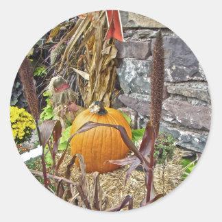 Autumn Harvest Bounty Round Sticker