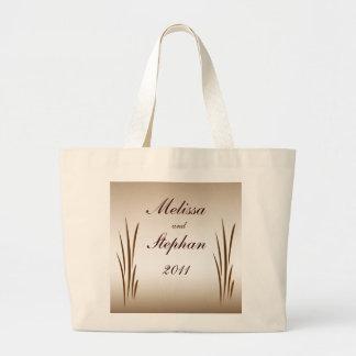Autumn Harvest Bride and Groom Wedding Jumbo Tote Bag
