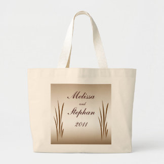 Autumn Harvest Bride and Groom Wedding Tote Bags