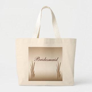 Autumn Harvest Bridesmaid Jumbo Tote Bag