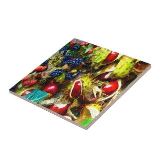Autumn Harvest ~ Ceramic Tile