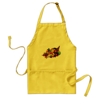 Autumn Harvest Cornucopia Horn of Plenty Fall Standard Apron