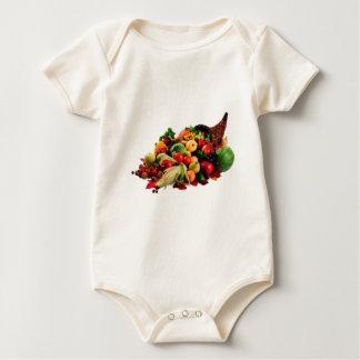 Autumn Harvest Cornucopia Horn of Plenty Fall Baby Bodysuit
