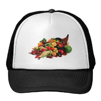 Autumn Harvest Cornucopia Horn of Plenty Fall Mesh Hat