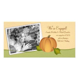 Autumn Harvest Engagement Photo Card Template