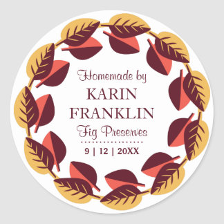 Autumn Harvest Homemade Canning Gift Labels Sticker