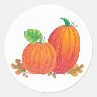 Autumn Harvest Pumpkin Stickers