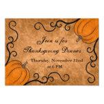 Autumn harvest pumpkin Thanksgiving dinner 5x7 Invite