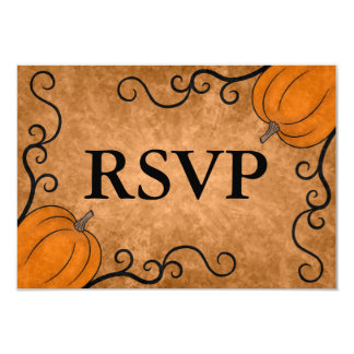 Autumn harvest pumpkin Thanksgiving dinner RSVP 9 Cm X 13 Cm Invitation Card