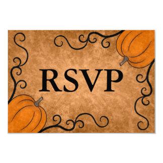 Autumn harvest pumpkin Thanksgiving dinner RSVP 9 Cm X 13 Cm Invitation Card