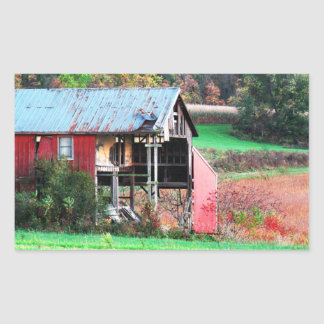 Autumn Harvest Rectangular Sticker