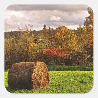 Autumn Harvest Square Sticker