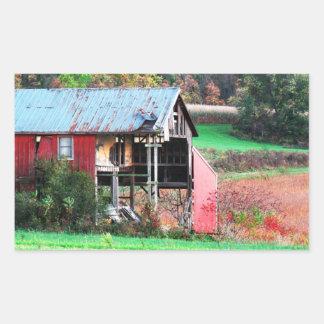 Autumn Harvest Rectangle Sticker