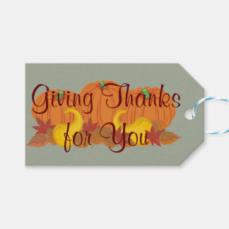 Autumn Harvest Thanksgiving Gift Tags