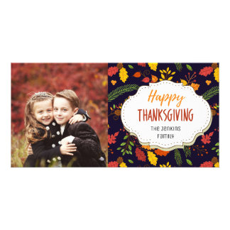 Autumn Harvest Thanksgiving Picture Photo Card