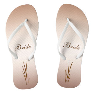 Autumn Harvest Wedding Bride Flip Flops