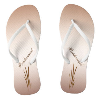 Autumn Harvest Wedding Bridesmaid Flip Flops