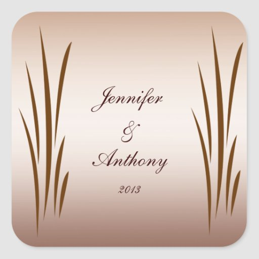 Autumn Harvest Wedding Stickers