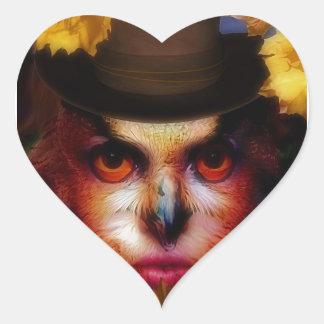Autumn Heart Sticker